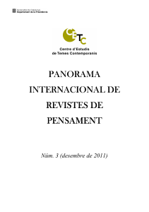 PANORAMA INTERNACIONAL DE REVISTES DE PENSAMENT