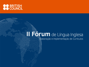 Na sala de aula - British Council | Brasil