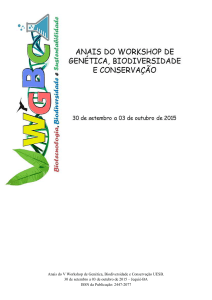 Anais do V Workshop de Genética, Biodiversidade e