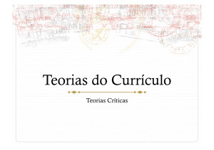 Teorias do Currículo