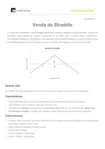 Venda de Straddle - XP Investimentos