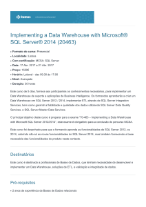 Implementing a Data Warehouse with Microsoft® SQL
