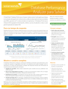 Database Performance Analyzer para Sybase