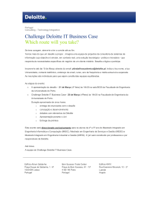 Challenge Deloitte IT Business Case Which route will you take?