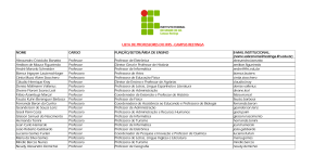 LISTA DE PROFESSORES DO IFRS