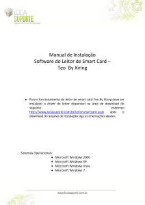 Manual de Instalação Software do Leitor de Smart Card – Teo By