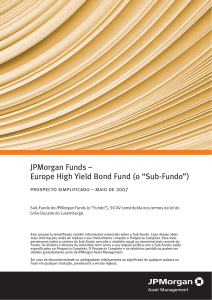 "JPMorgan Funds – Europe High Yield Bond Fund (o ""Sub"