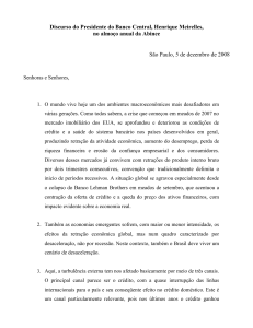 05/12/2008 - Texto do pronunciamento do presidente na