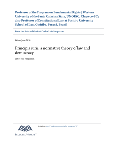 Principia iuris: a normative theory of law and