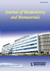Artigos Científicos - Journal of Biodentistry and Biomaterials