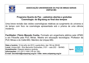 Cosmologia: do Big-bang ao final dos tempos - Unipaz-MG