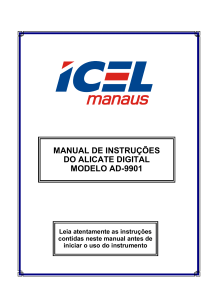 manual de instruções do alicate digital modelo ad-9901
