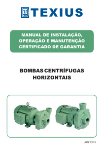 BOMBAS CENTRIFUGAS HORIZONTAIS - MANUAL.cdr