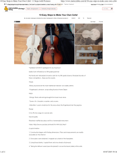 10 Easy Steps to Make Your Own Cello!- 11 Steps (with Pictures)