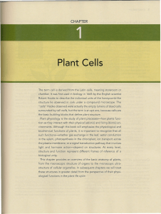 Plant Physiology - 4 - Capitulo 1  - Celeula vegetal
