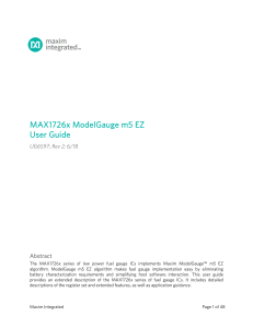 Maxim MAX1726x User Guide UG6597 r2