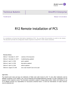 TC2338en-Ed06 OmniPCX Enterprise Release R12.0-remote installation of PCS