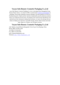 Yuyao Solo Beauty Cosmetic Packging Co.,Ltd