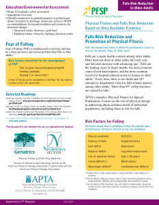 Pocket Guide - Falls in older adults