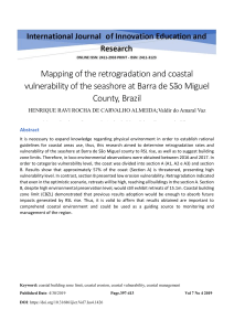 Mapping of the retrogradation and coastal vulnerability of the seashore at Barra de São Miguel County, Brazil