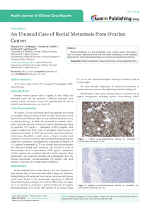 An Unusual Case of Rectal Metastasis from Ovarian Cancer