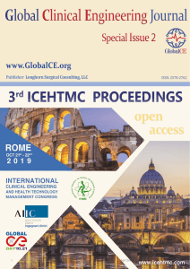 3RD ICEHTMC 2019 - GLOBAL CLINICAL ENGINEERING JOURNAL