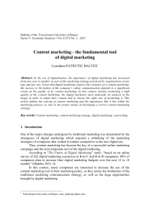 Content marketing - the fundamental tool of digital marketing
