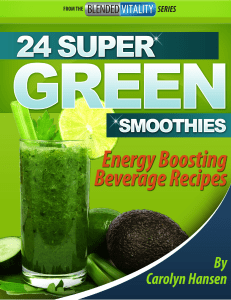 24 Super Green Smoothies™ By Carolyn Hansen PDF eBook